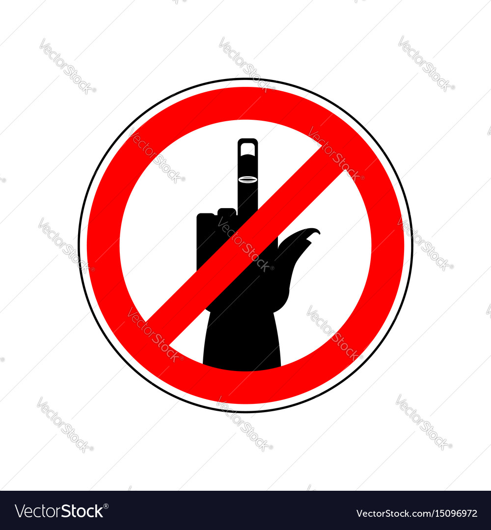 Stop cad sign ban red prohibition symbol you