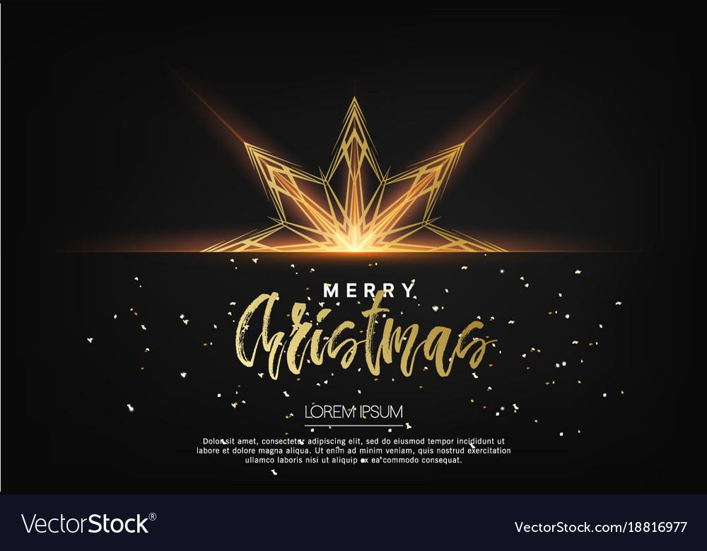 Elegant christmas background with bhining gold