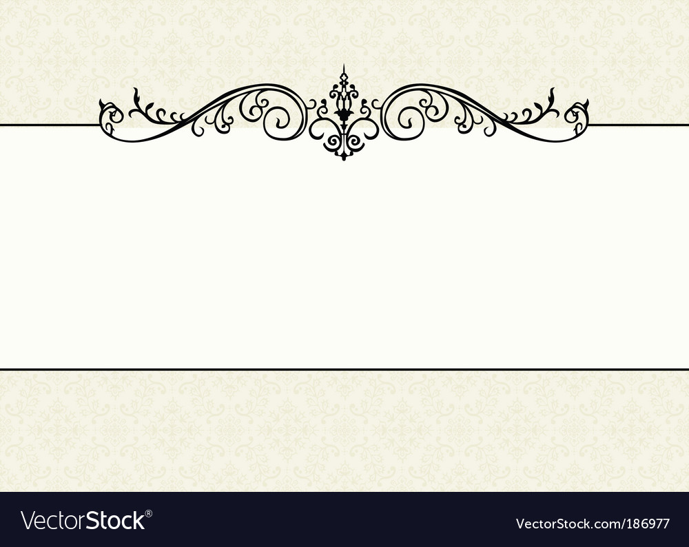 Floral pattern and ornament frame