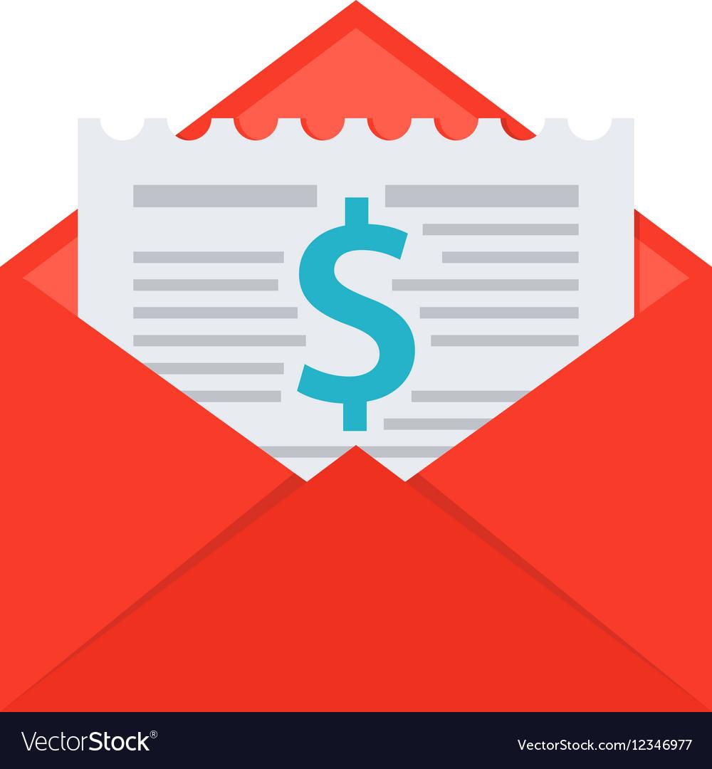 Invoice in Envelope vector image