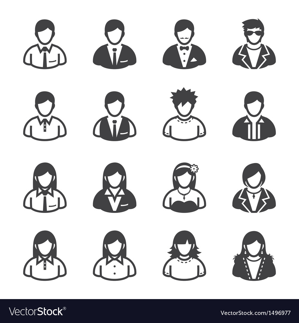 People Icons and User Icons vector image