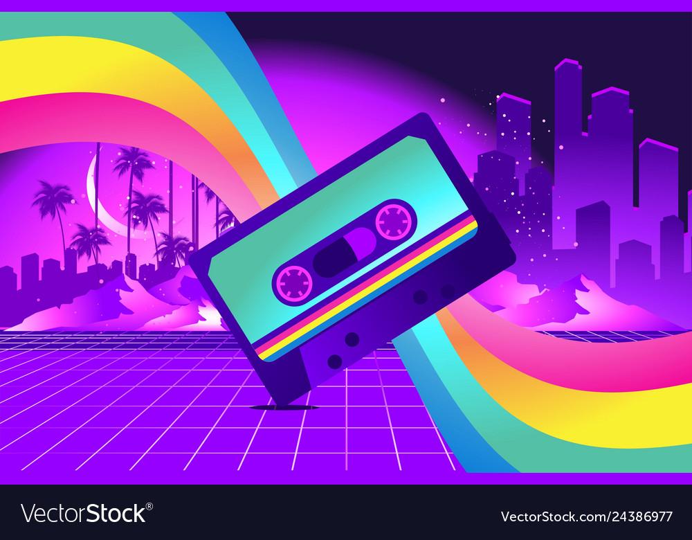 Retro style pop disco
