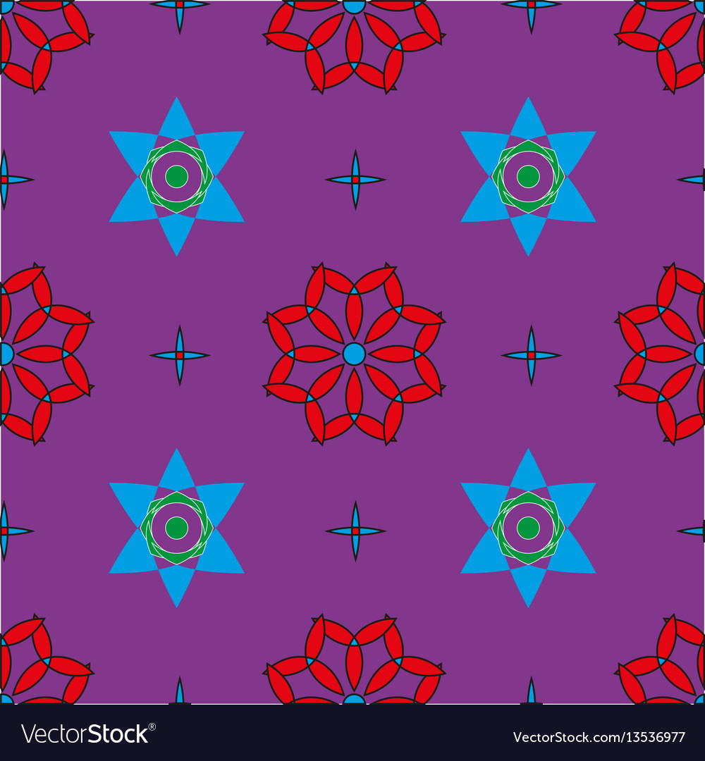 Seamless pattern with colored shapes