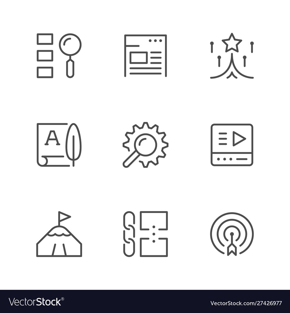 Set line icons seo