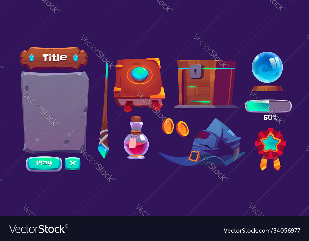 Set magic game interface elements