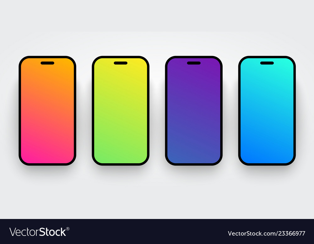 Soft colorful smartphone screen background set