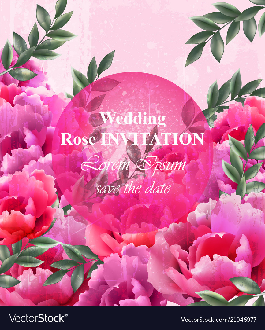Wedding roses invitation beautiful roses