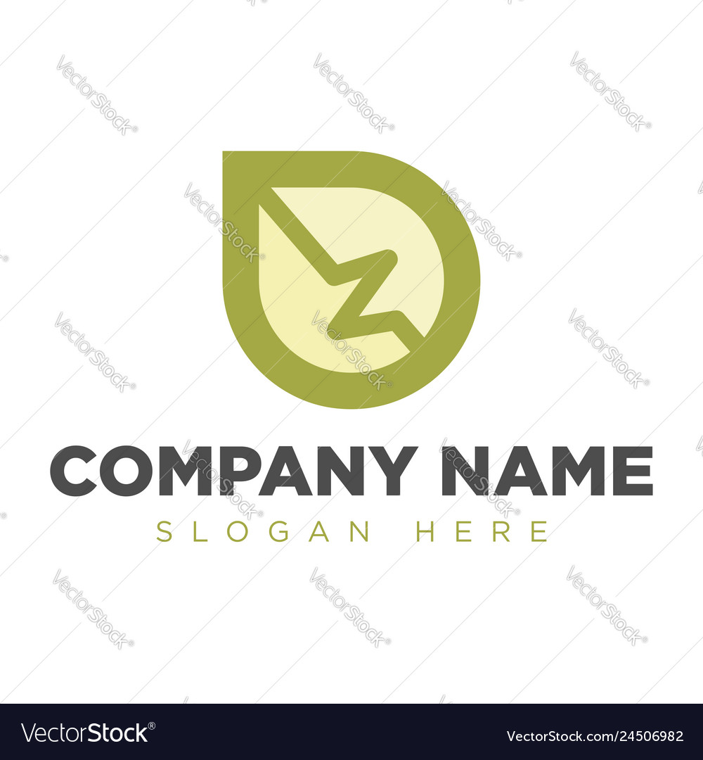 Abstract leaf logo design template linear s