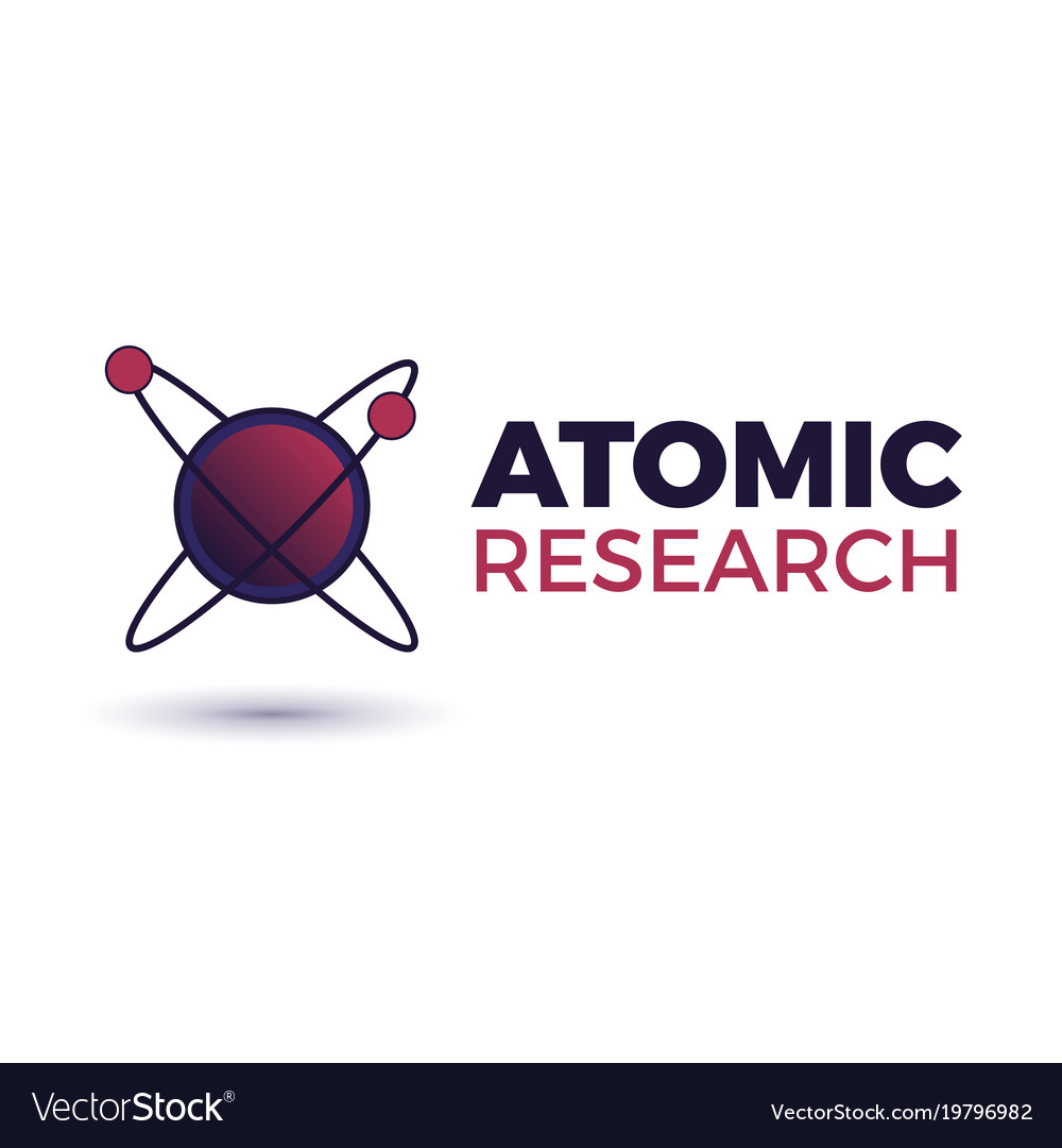 Atomic science logo vector image