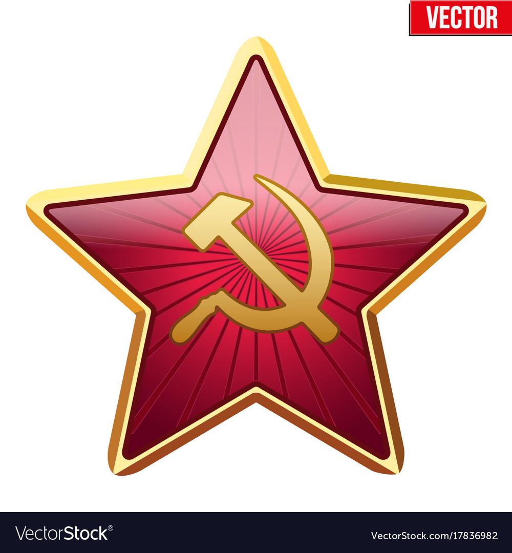 Badge of soviet union star