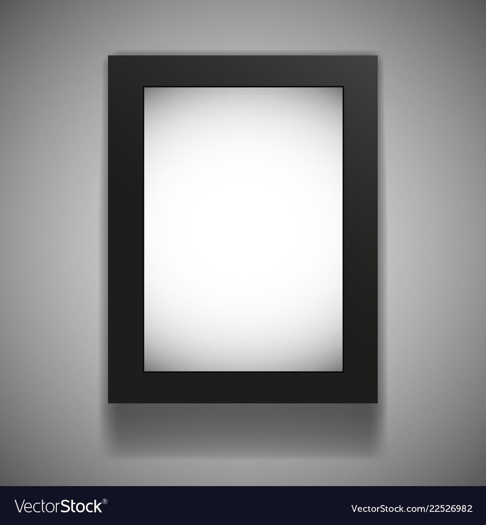 Blank Billboard Lightbox Mock Up Isolated Wall Vector Image