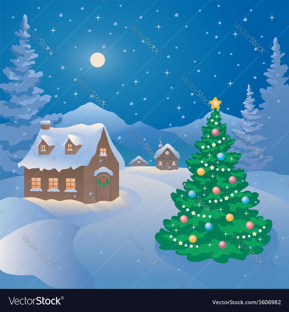 Christmas Mountain Village.Christmas Mountain Village