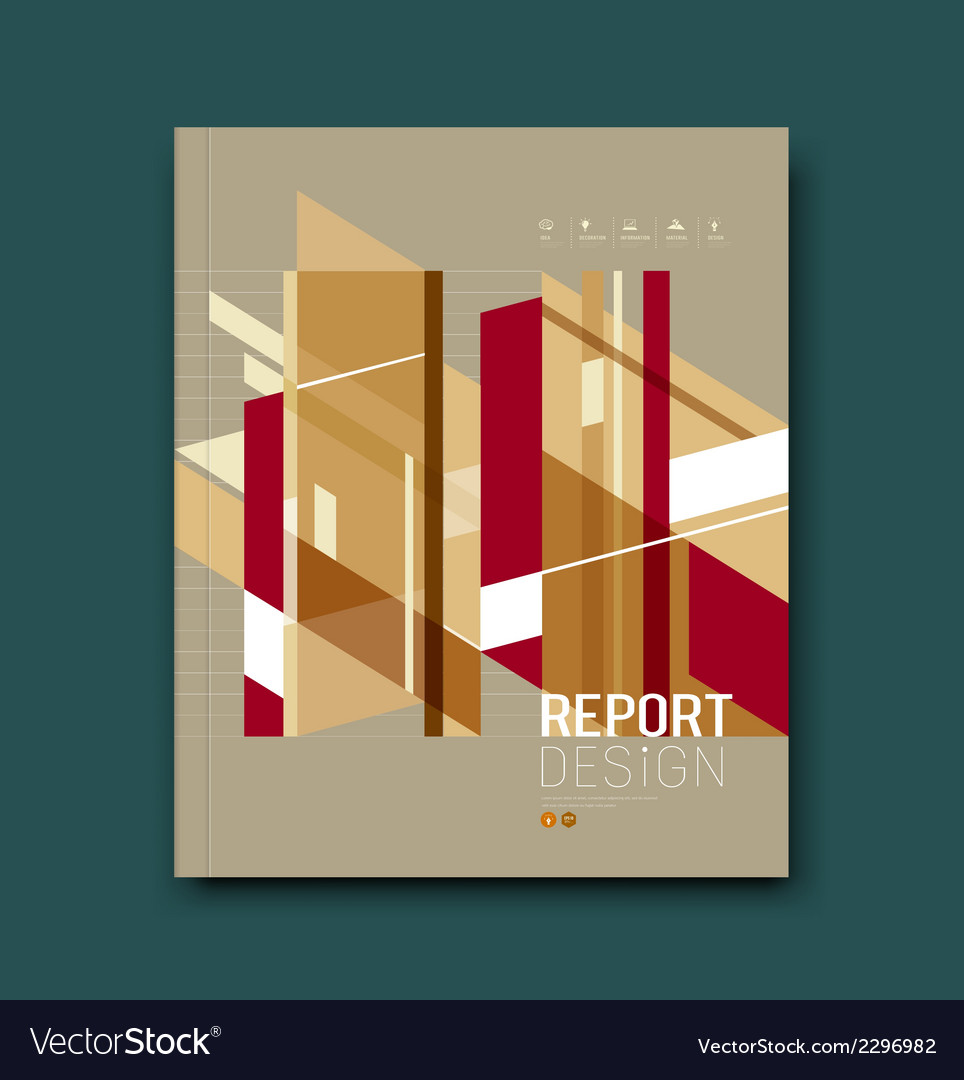 Cover Magazine Abstract buildings brown background