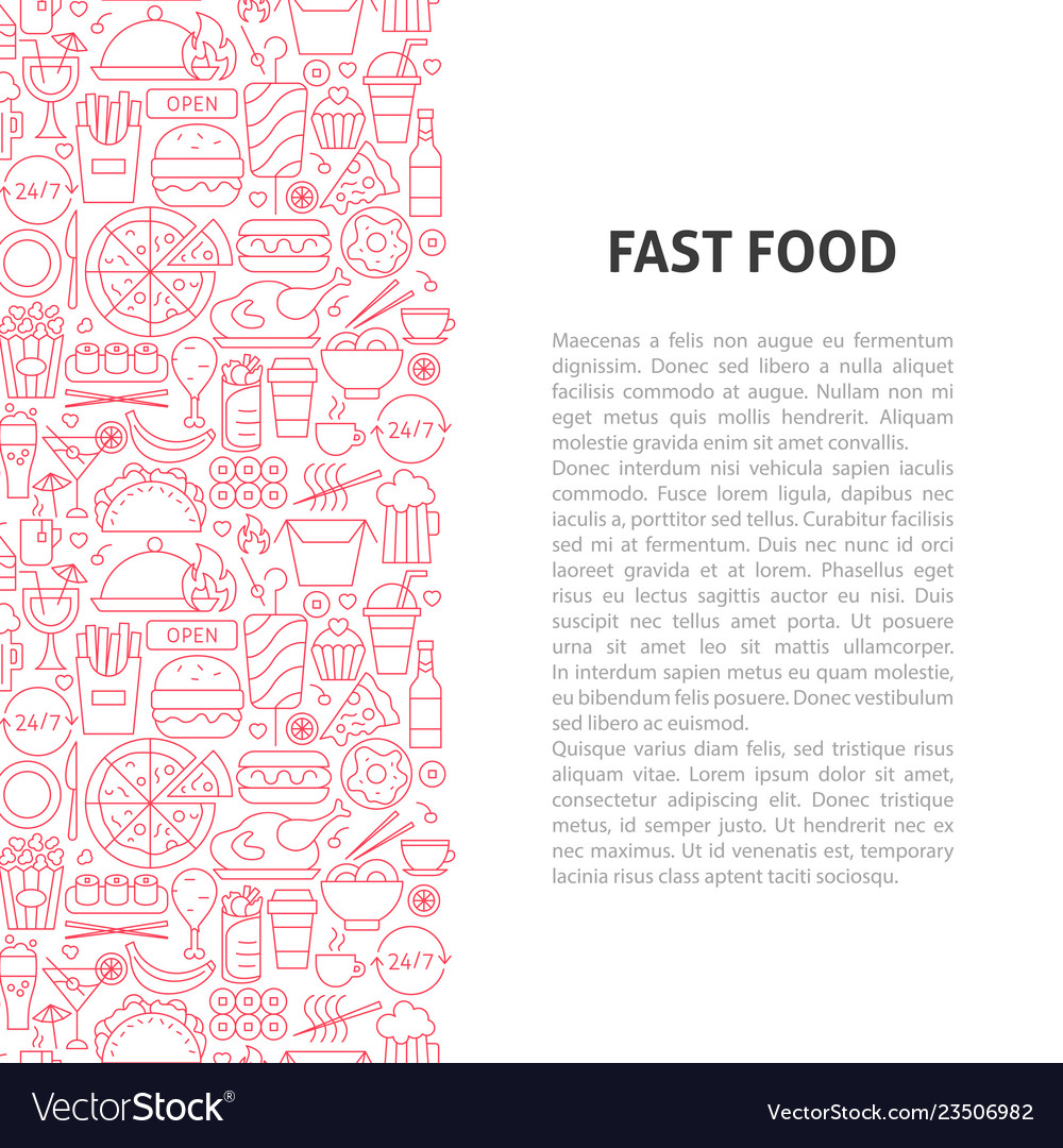 Fast food line pattern concept