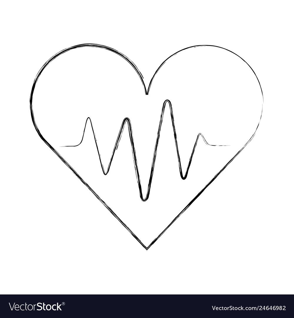 Medical heart beat pulse rhythm cardio