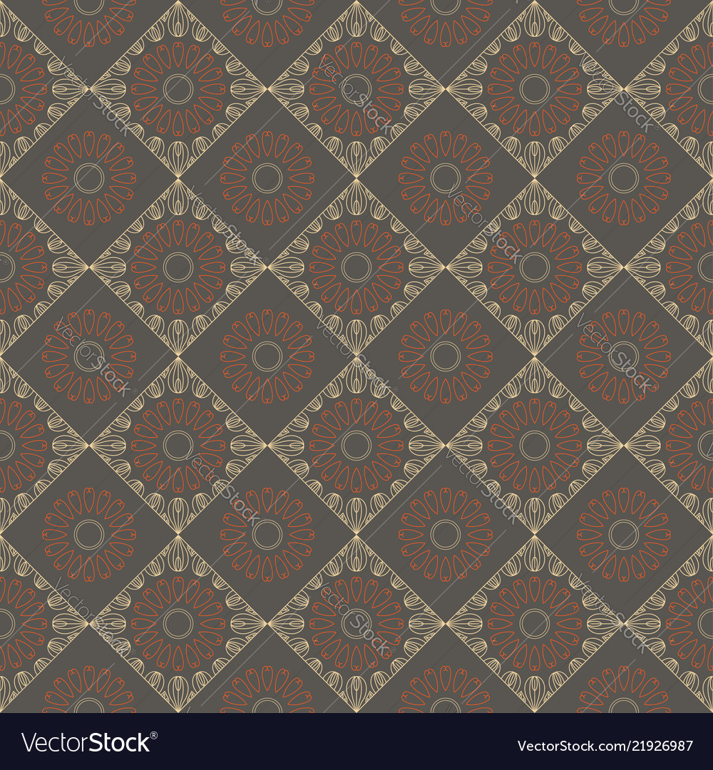 Ethnic vintage abstract seamless geometric