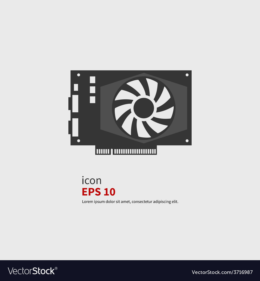 Graphics card vector image