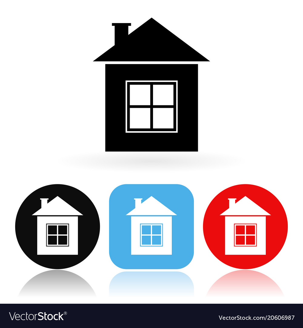 home icon colored icons with house royalty free vector image rh vectorstock com house vector icons house vector free eps