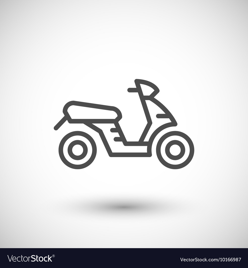 Modern scooter line icon