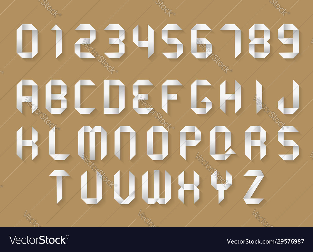 Paper alphabet and numbers