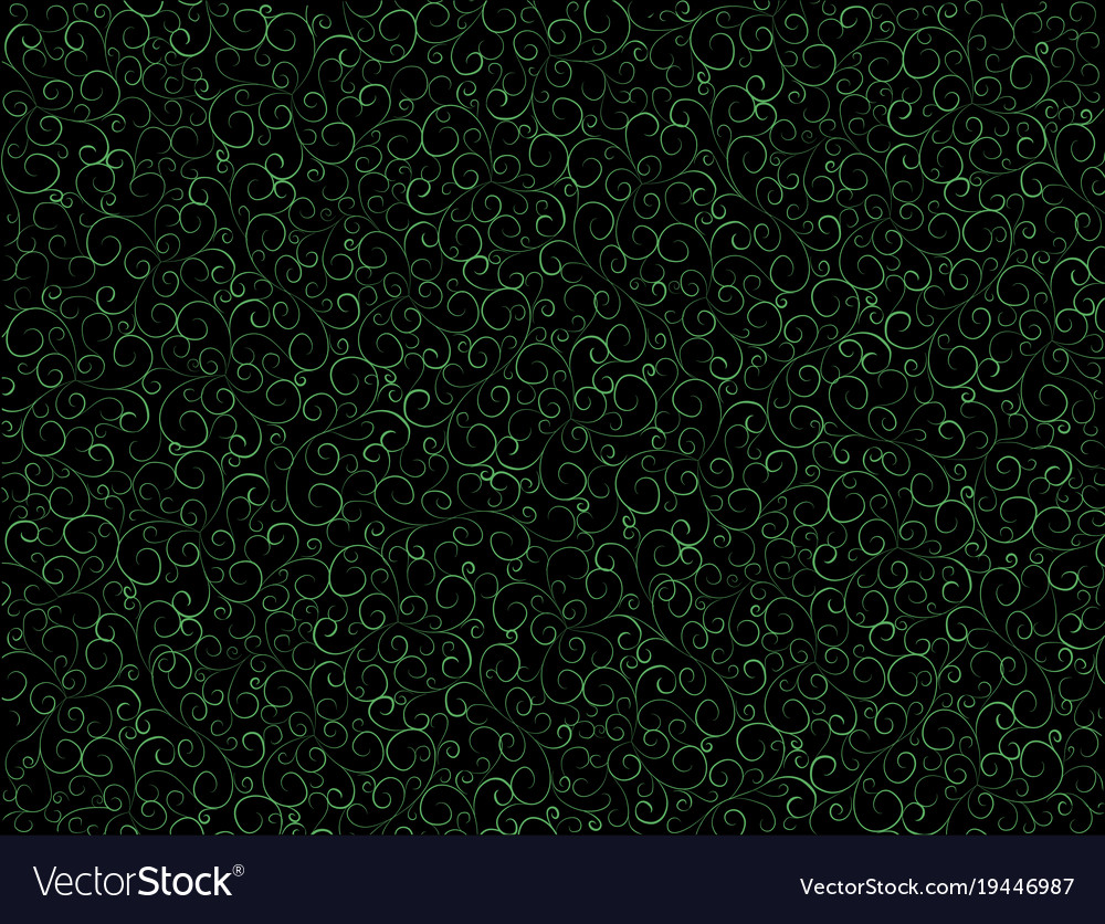 Seamless pattern with curly curls vector image