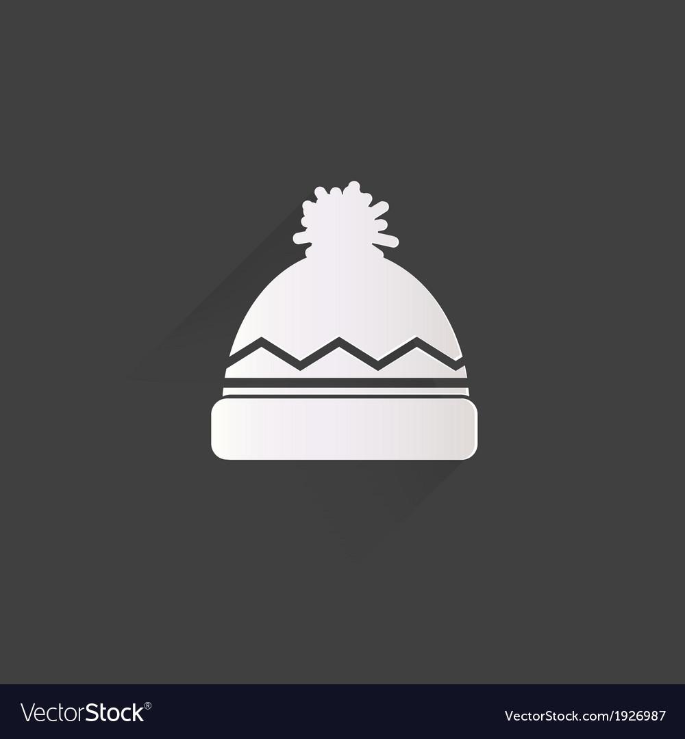 1aafbde1c3a Winter snowboard cap icon Royalty Free Vector Image