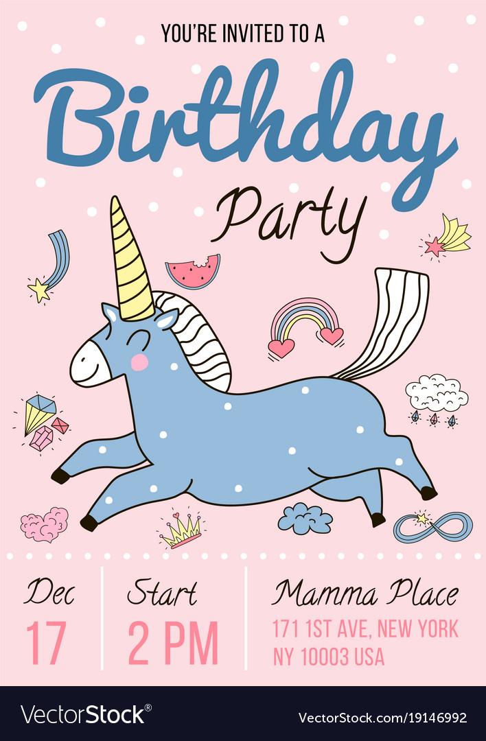 Birthday party invitation poster