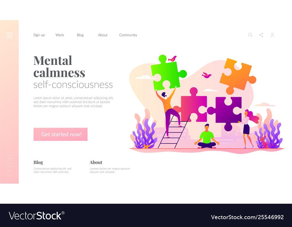 Mindfulness landing page template
