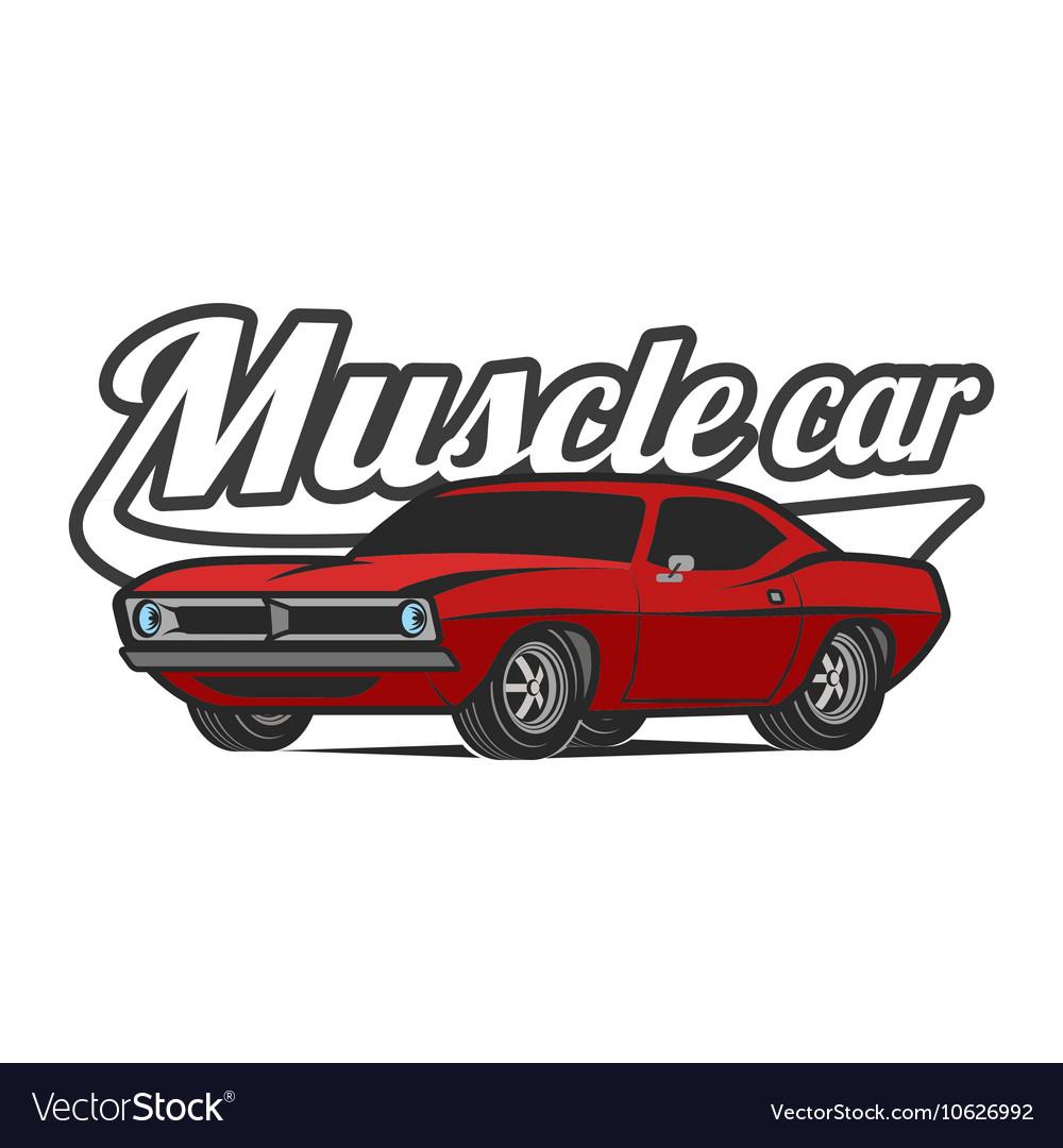 Muscle Car Cartoon Classic Poster T Shirt Vector Image