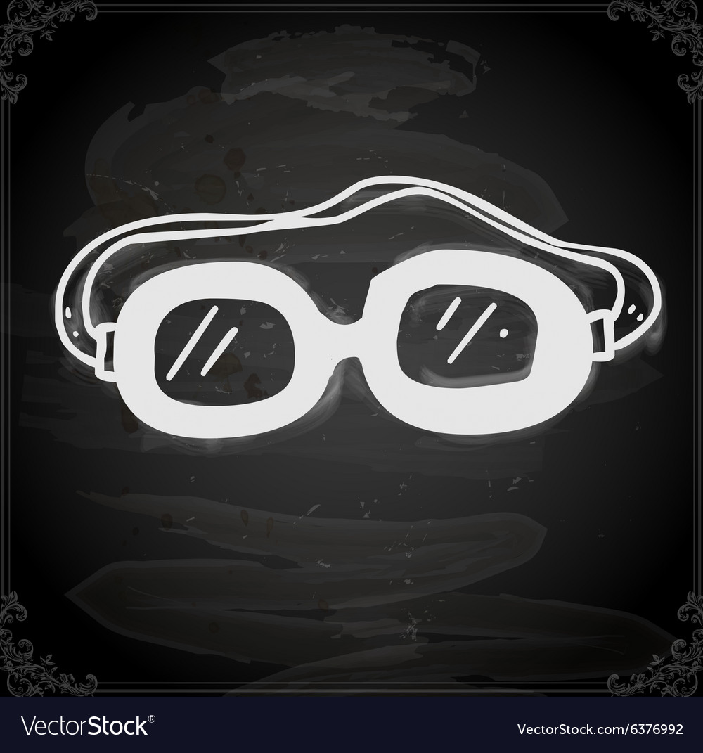 Safety Glasses Drawing on Chalk Board