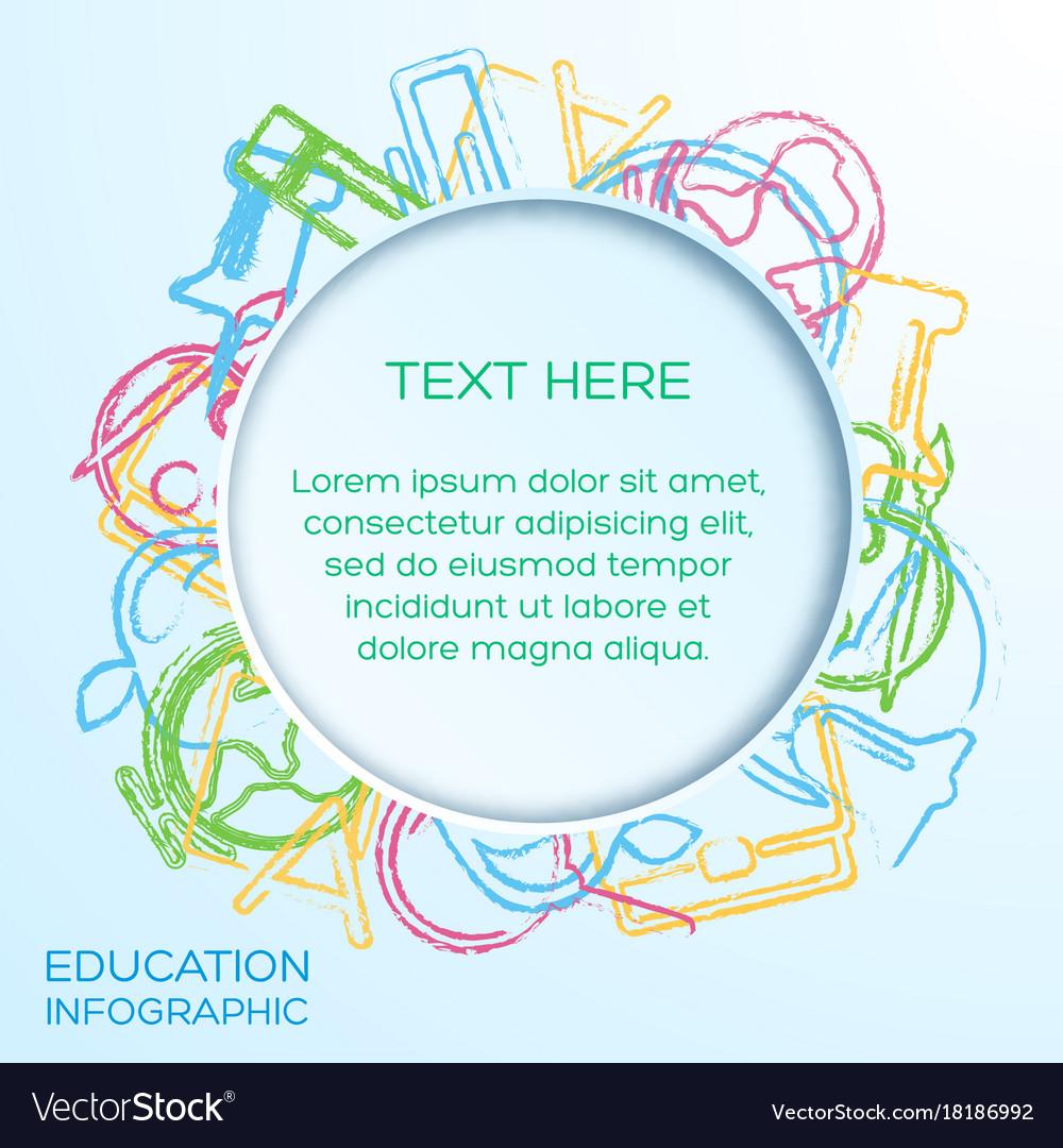 School infographic template