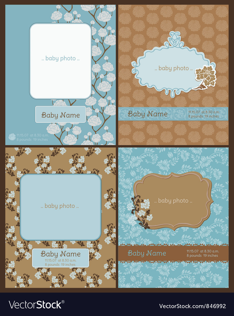 Set of Baby Arrival Cards