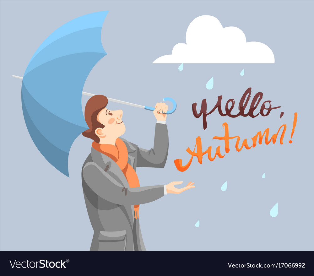 The rain is over vector image