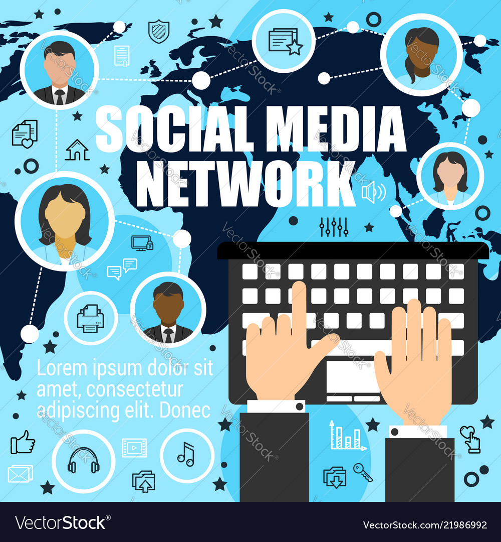 Worldwide socializing by means of media network