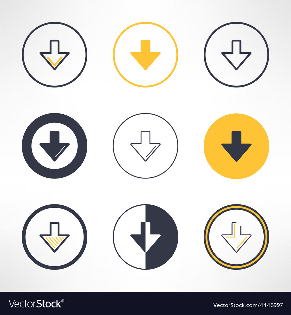 Download icons set in different design Clean and