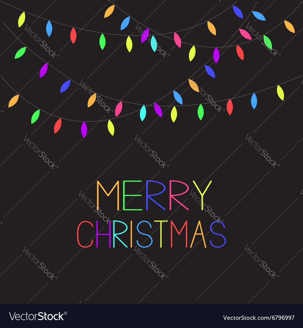 Colorful Christmas Lights Background.Glowing Colorful Christmas Lights Xmas Merry