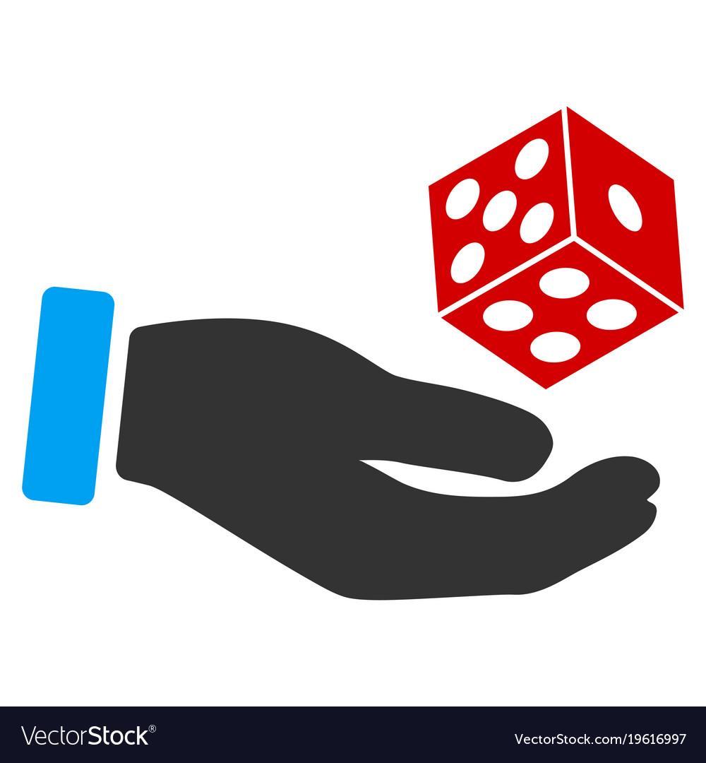 Throw A Dice.Hand Throw Dice Flat Icon