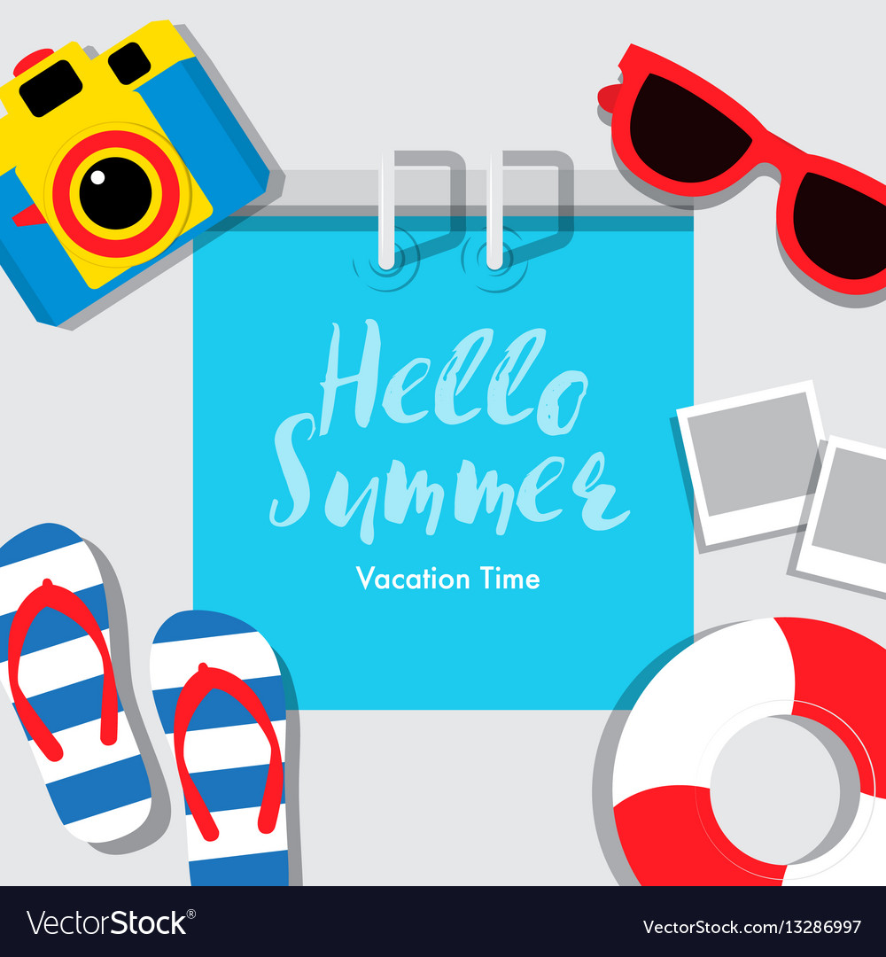 Poster summer vacation summerbanner cover