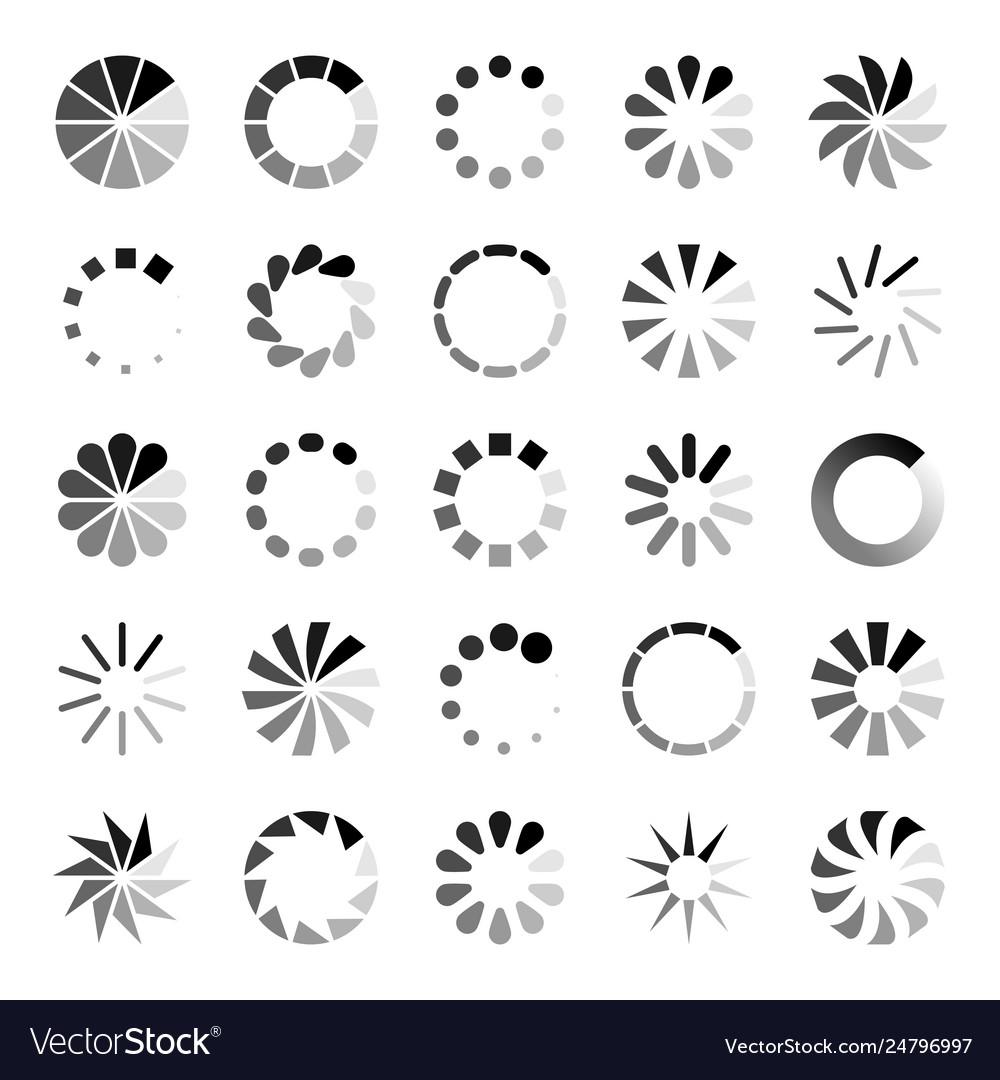 Progress loader icons load spinning circle