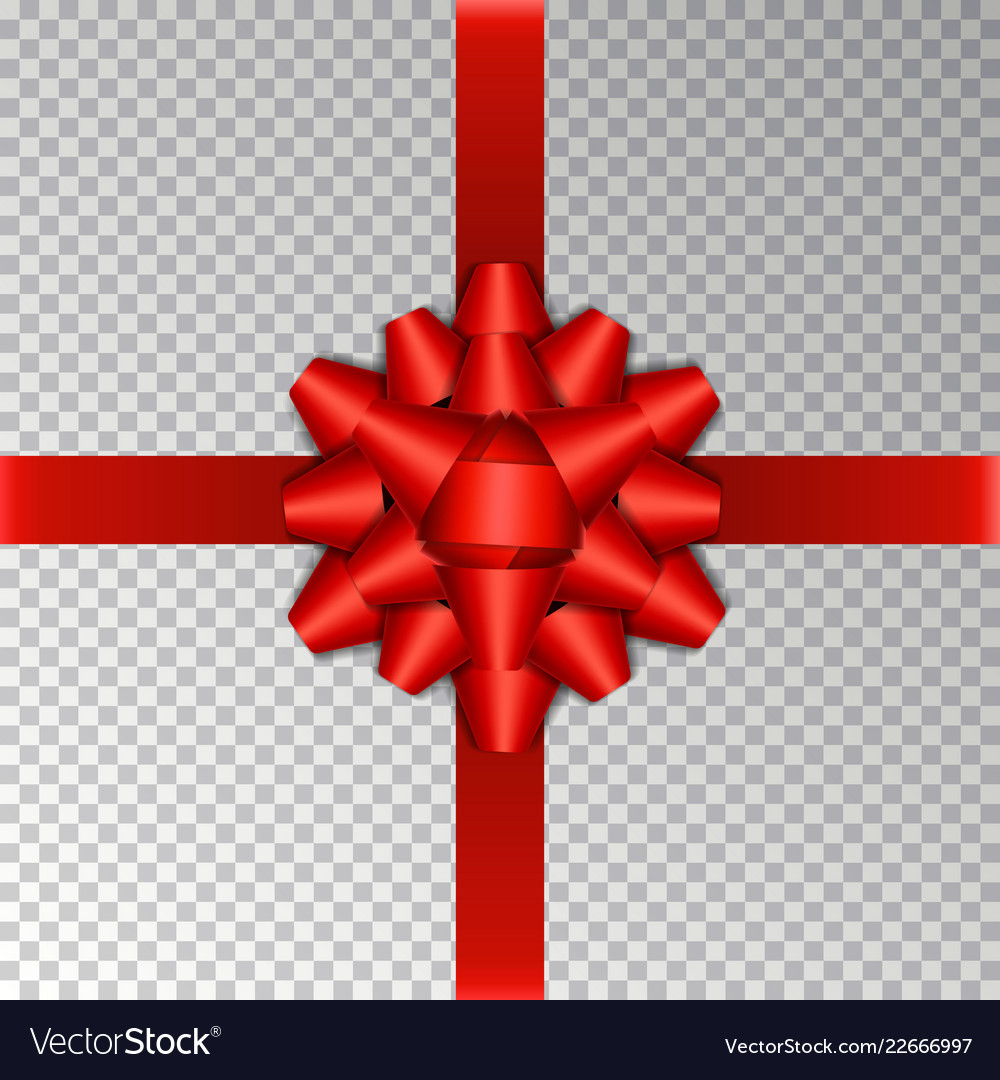 Red ribbon bow isolated on background bow
