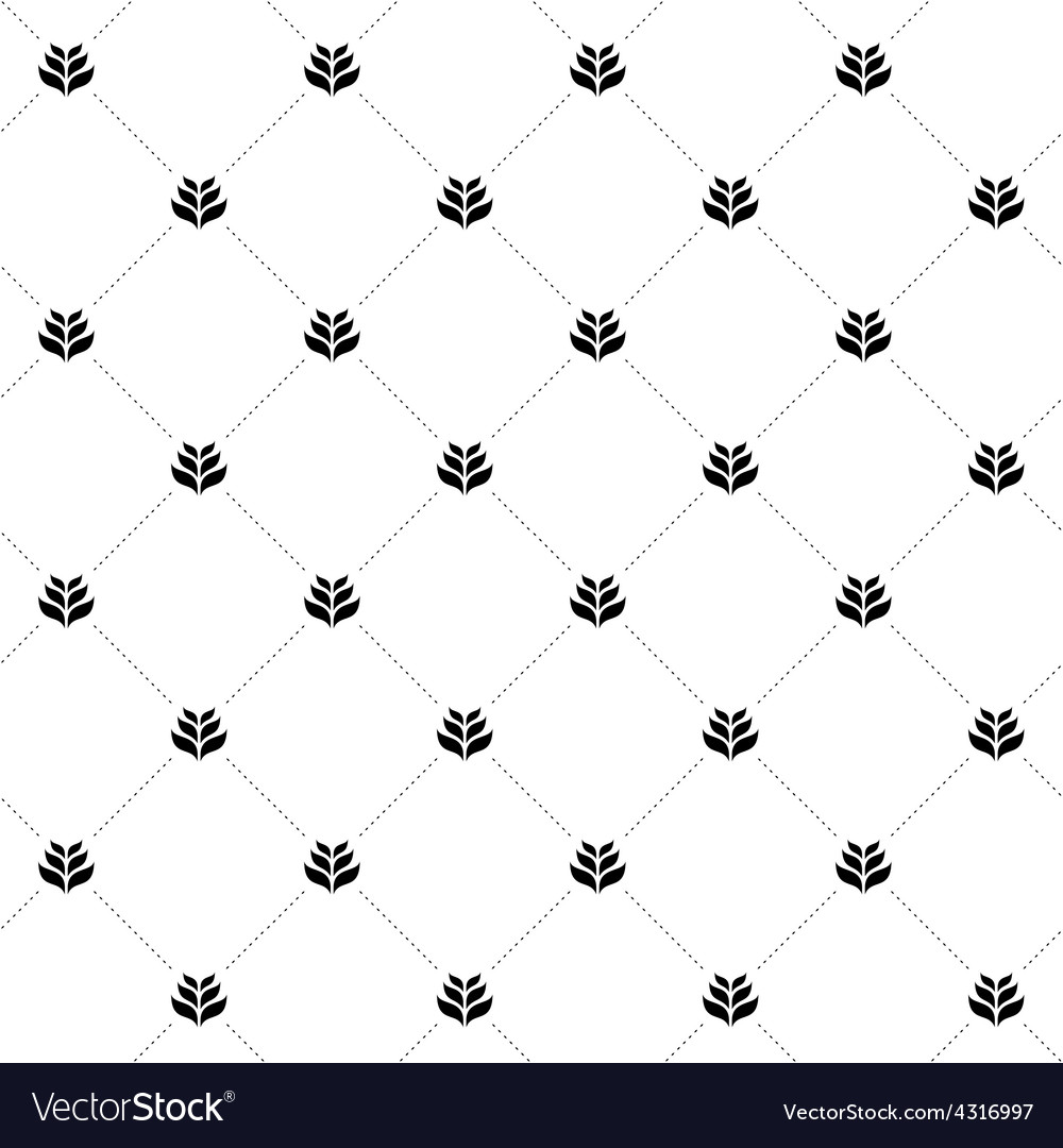 Wheat seamless cross pattern Simple black and vector image