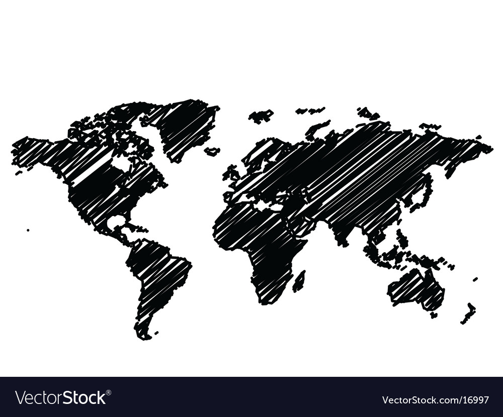 World Map Graphic Vector. Artist: hfng; File type: Vector EPS