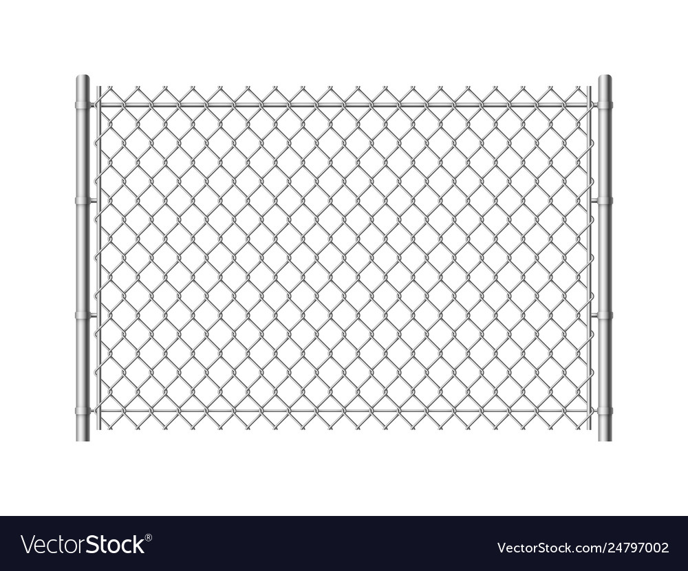 Chain link fence realistic metal mesh fences wire