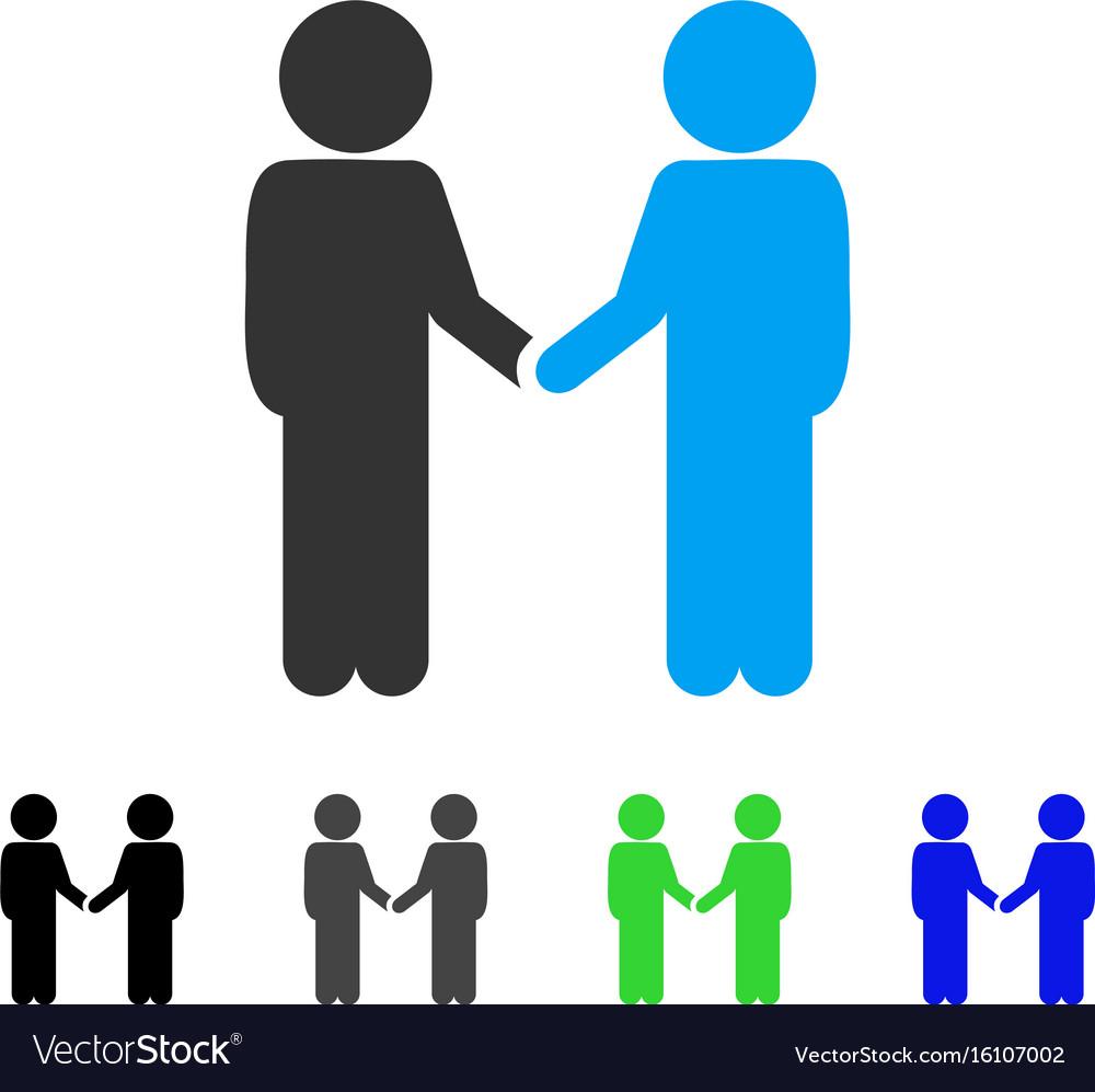 Children handshake flat icon