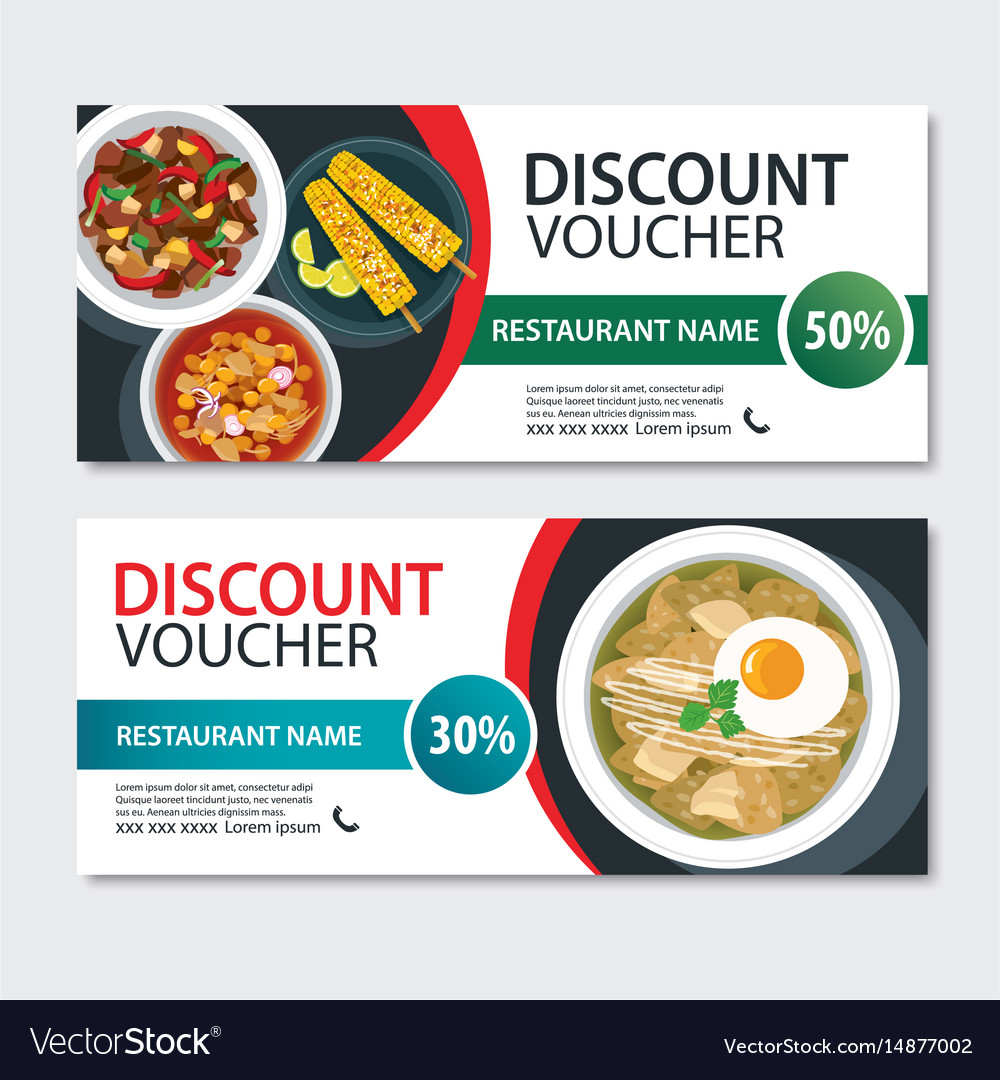 Discount voucher mexican food template design vector image forumfinder Image collections