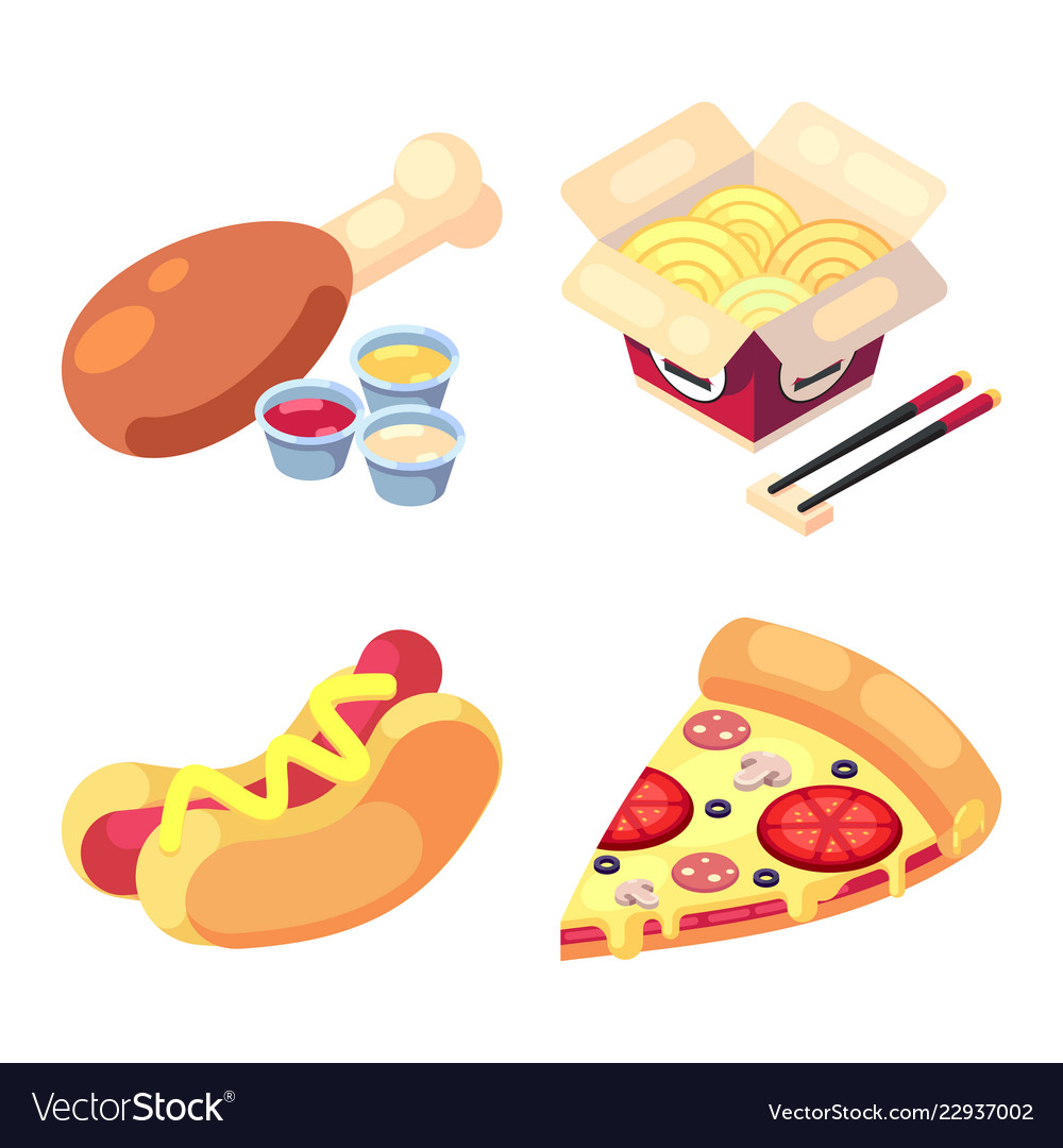 Game Icons Set Food For Higher Health Level Vector Image