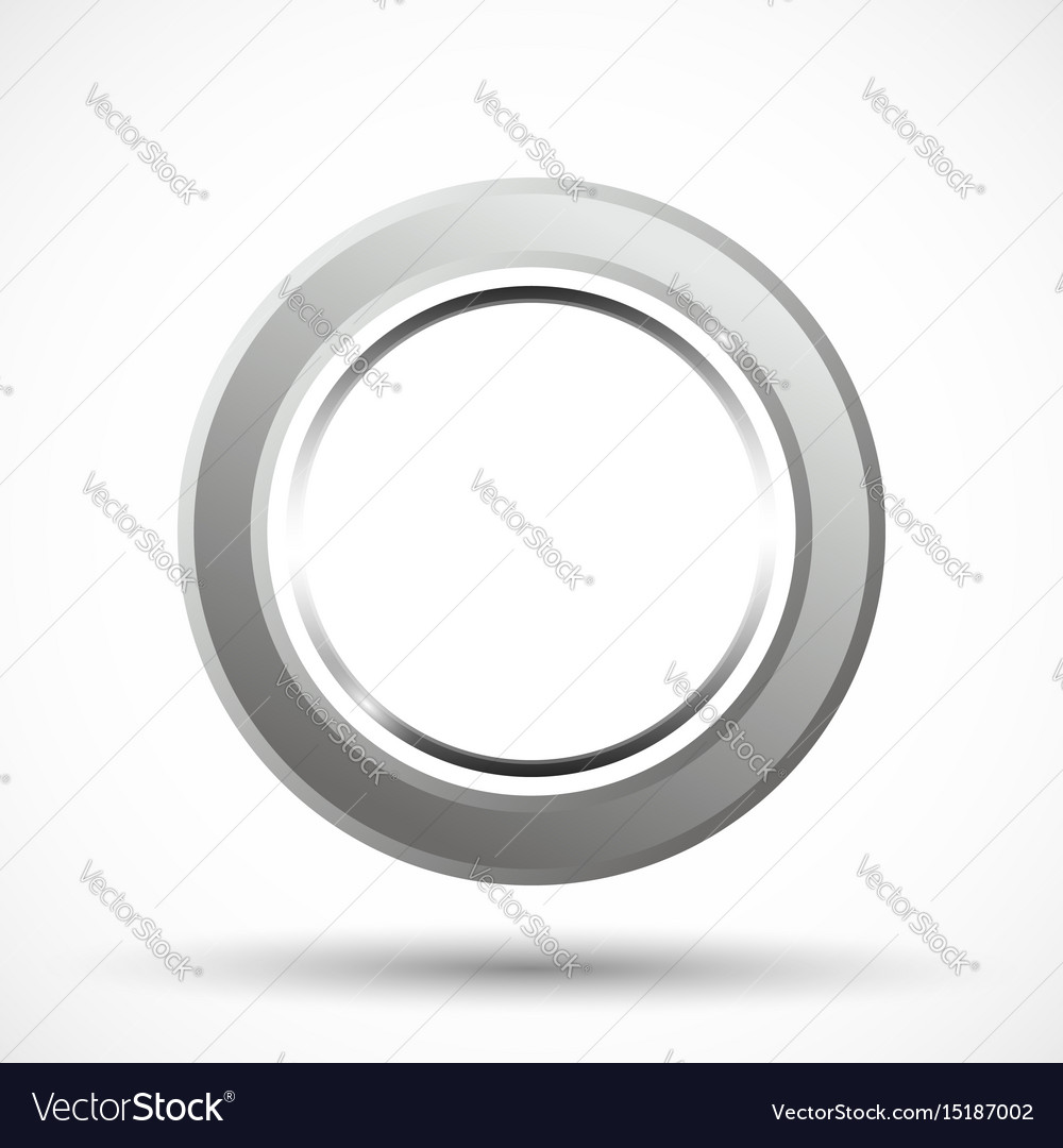 Metal ring isolated