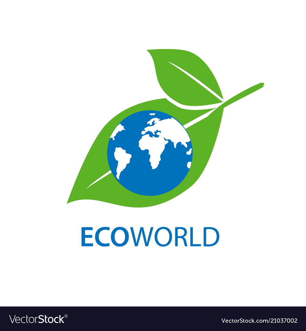 Planet and eco symbol or icon natural organic