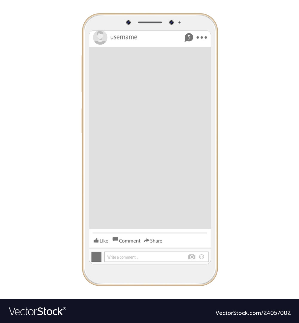 Social page profile web interface