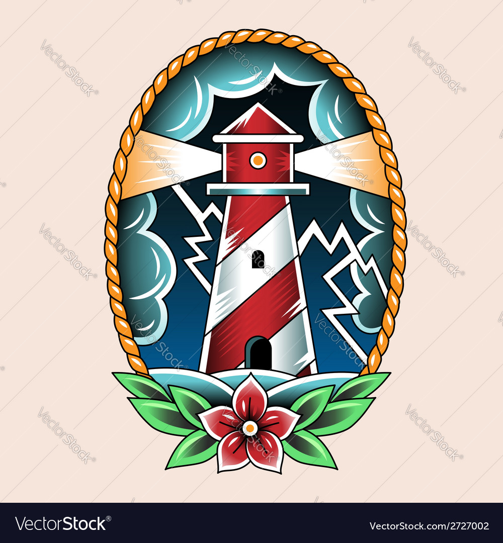 Tattoo beacon vector image